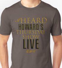 Howard Stern Show Live Thursday Show 11-16-17 T-Shirt