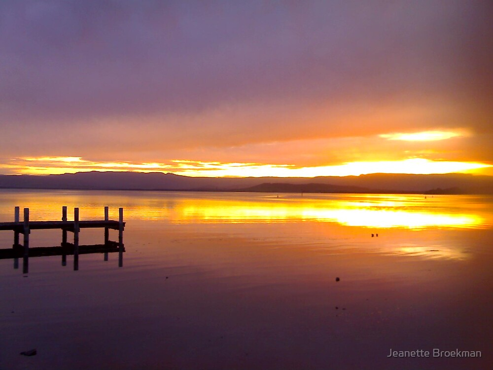 Sunset from the Pier by Jeanette Broekman
