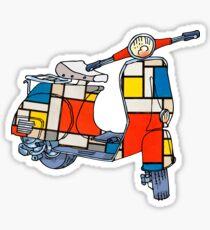 Vespa scooter, Piet Mondrian Sticker