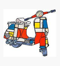 Vespa scooter, Piet Mondrian Photographic Print