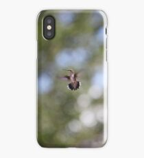 Tiny Hummingbird floating in space / Huitzilli iPhone Case