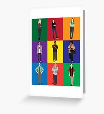 Community Character Print Greeting Card