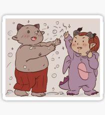 bull & adaar & snow Sticker