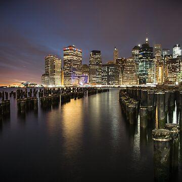 Manhattan from Brooklyn Bridge Park by madebyluddy