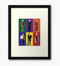Doctor Who Character Print Framed Print