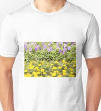 Yellow and Blue Flower Unisex T-Shirt