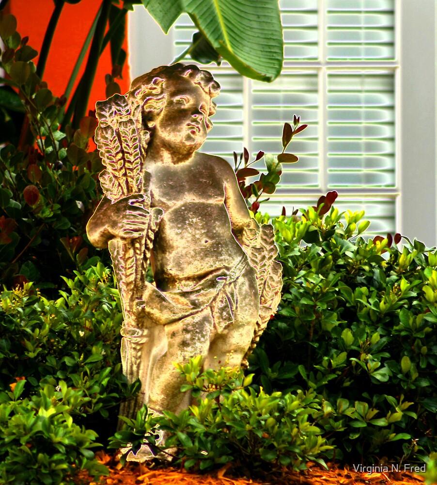 Golden Cherub by Virginia N. Fred