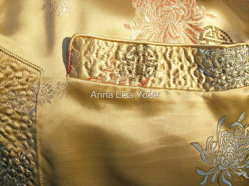 Mandarin Silk Jacket Pocket  by Anna Lisa Yoder