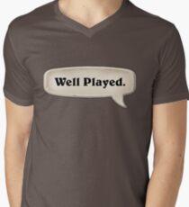 Gut gespielt Emote T-Shirt mit V-Ausschnitt für Männer
