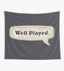 Well Played Emote Wall Tapestry