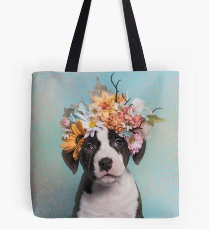 Flower Power, BlackPearl Tote Bag