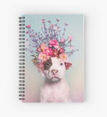 Flower Power, Rum Spiral Notebook
