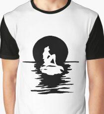 Mermaid on Rock Graphic T-Shirt