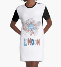 London Boroughs in Type Graphic T-Shirt Dress