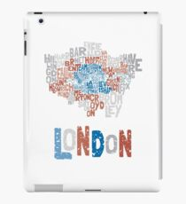 London Boroughs in Type iPad Case/Skin