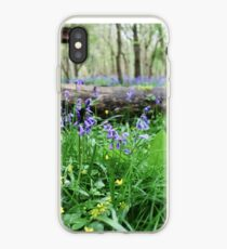 Bluebell wood in Cambridgeshire, England iPhone Case