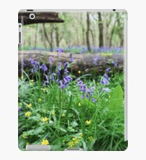 Bluebell wood in Cambridgeshire, England iPad Case/Skin