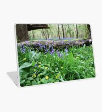 Bluebell wood in Cambridgeshire, England Laptop Skin
