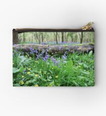 Bluebell wood in Cambridgeshire, England Studio Pouch