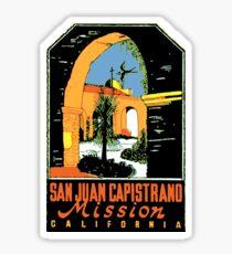 San Juan Capistrano vintage decal Sticker