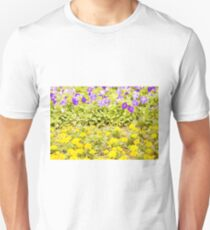 Yellow and Blue Flowers Unisex T-Shirt