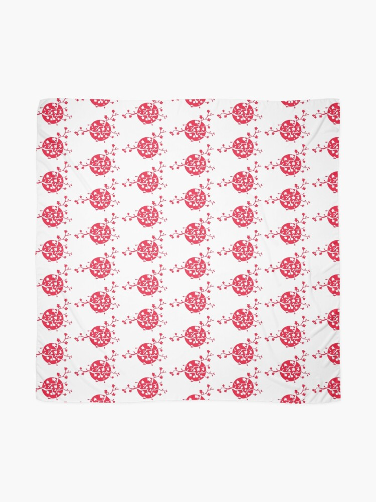 Alternate view of Japan flag and cherry blossom Scarf