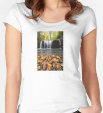 Fall Maple Leaves at Hidden Falls Women's Fitted Scoop T-Shirt