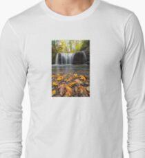 Fall Maple Leaves at Hidden Falls Long Sleeve T-Shirt