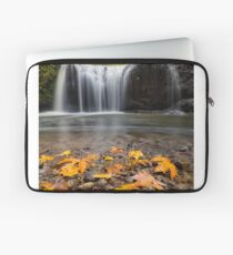 Fall Maple Leaves at Hidden Falls Laptop Sleeve