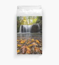 Fall Maple Leaves at Hidden Falls Duvet Cover