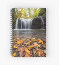 Fall Maple Leaves at Hidden Falls Spiral Notebook