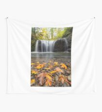 Fall Maple Leaves at Hidden Falls Wall Tapestry