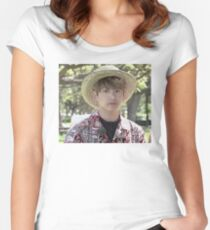 Puffy Jungkook in Hawaii Women's Fitted Scoop T-Shirt