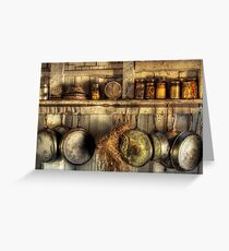 The old country kitchen Greeting Card