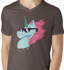 Rad Magic Pony Head Men's V-Neck T-Shirt