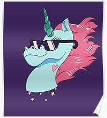 Rad Magic Pony Head Poster