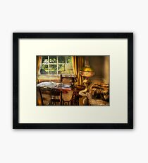 The Domestic Sewing Machine Framed Print