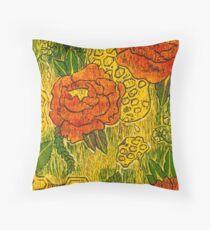 Flowers & Honey Throw Pillow