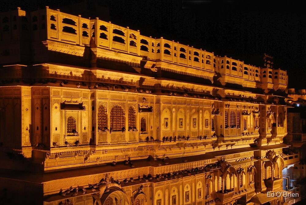 jaisalmer haveli night reflections by Ed O'Brien