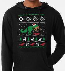 Dinosaurier hässliche Weihnachtsstrickjacke - lustiges Weihnachtsgeschenk Leichter Hoodie