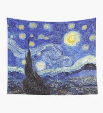 A Starry Night Van Gogh Mountain Inspiration Wall Tapestry