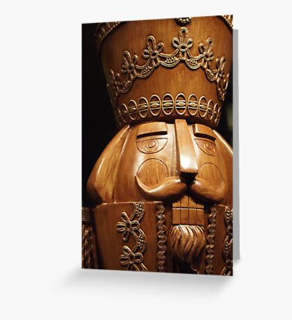 Wooden Nutcracker for Christmas Greeting Card
