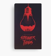 the upside down stranger things Canvas Print