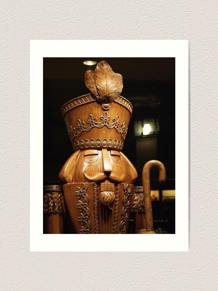 Alternate view of Wooden Nutcracker for Christmas 2 Art Print