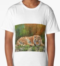 Amur Tiger Resting Long T-Shirt