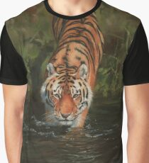 Tiger Entering Water Graphic T-Shirt