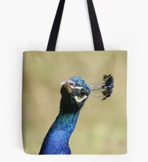 Curious peacock - Wiltshire, England Tote Bag