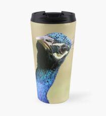 Curious peacock - Wiltshire, England Travel Mug