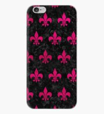 ROYAL1 BLACK MARBLE & PINK LEATHER iPhone Case