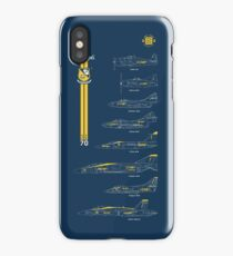 Blue Angels Chronology Blueprint iPhone Case